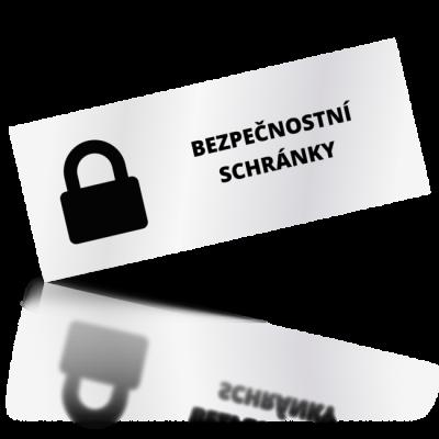 Bezpečnostní schránky - obdelníkové označení