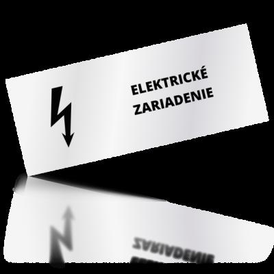 Elektrické zariadenie - obdelníkové označení
