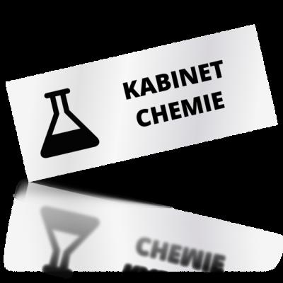 Kabinet chemie - obdelníkové označení
