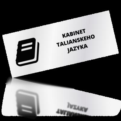 Kabinet talianskeho jazyka - obdelníkové označení