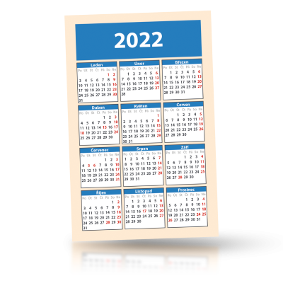 Kalendář 2022 kapesní 55x85 mm, balení od  200 kusů