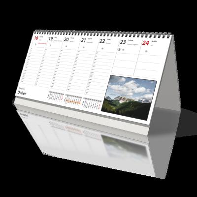 Kalendář 2022 stolní 1 týdenní, 300x140 mm, PLÁNOVACÍ - od 3 kusů