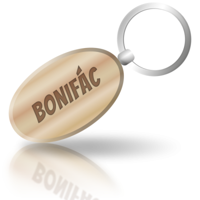 BONIFÁC - dřevěná klíčenka se jménem