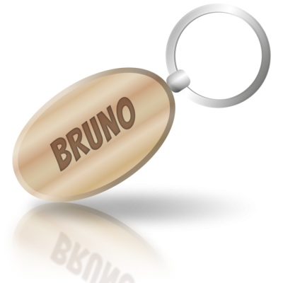 BRUNO - dřevěná klíčenka se jménem
