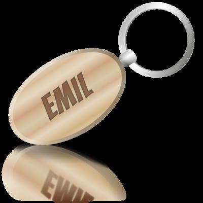 EMIL - dřevěná klíčenka se jménem