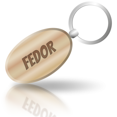 FEDOR - dřevěná klíčenka se jménem