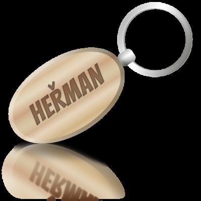 HEŘMAN - dřevěná klíčenka se jménem