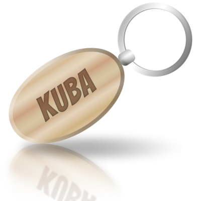 KUBA - dřevěná klíčenka se jménem