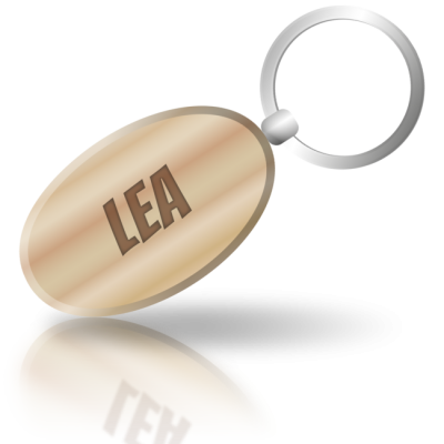 LEA - dřevěná klíčenka se jménem