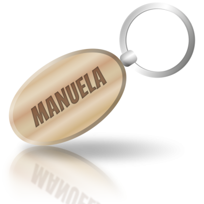 MANUELA - dřevěná klíčenka se jménem