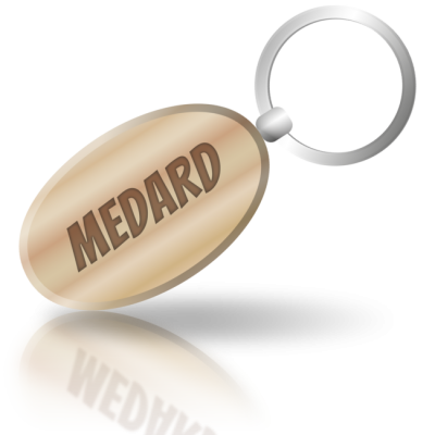 MEDARD - dřevěná klíčenka se jménem