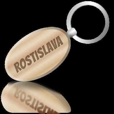 ROSTISLAVA - dřevěná klíčenka se jménem