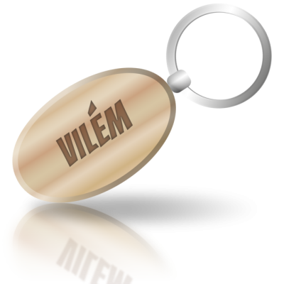 VILÉM - dřevěná klíčenka se jménem