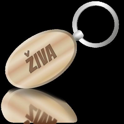 ŽIVA - dřevěná klíčenka se jménem