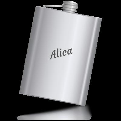Alica - kovová placatka se jménem