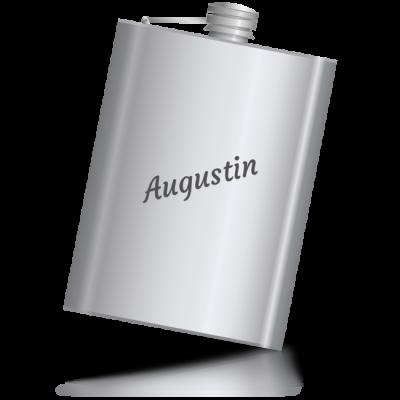 Augustin - kovová placatka se jménem