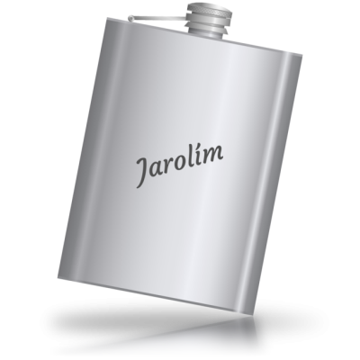 Jarolím - kovová placatka se jménem