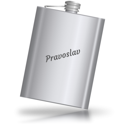Pravoslav - kovová placatka se jménem