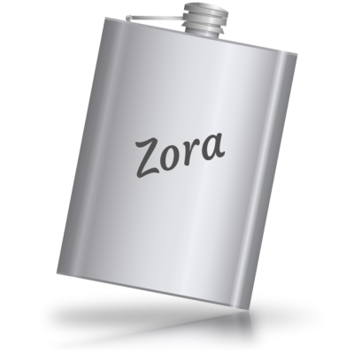Zora - kovová placatka se jménem