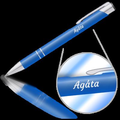 Agáta - kovová propiska se jménem