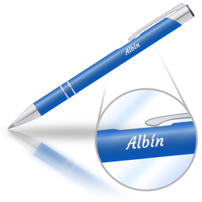 Albín - kovová propiska se jménem