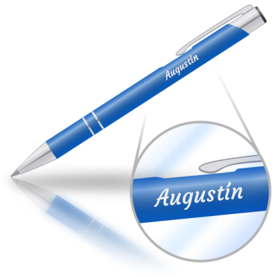 Augustín - kovová propiska se jménem