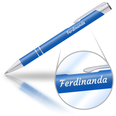 Ferdinanda - kovová propiska se jménem