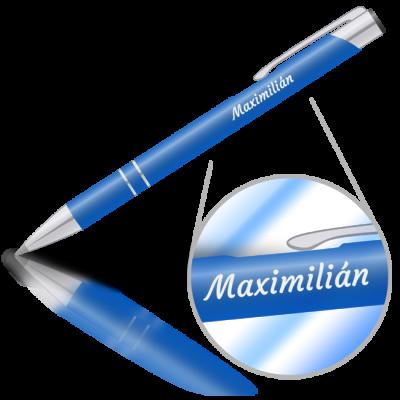 Maximilián - kovová propiska se jménem