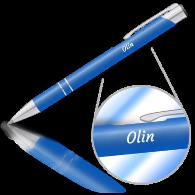 Olin - kovová propiska se jménem