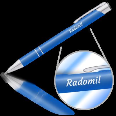 Radomil - kovová propiska se jménem