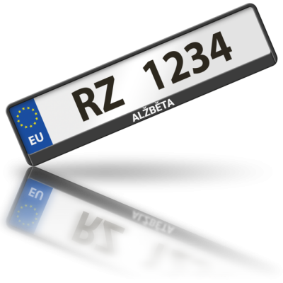 ALŽBĚTA - rámeček na poznávací značku auta
