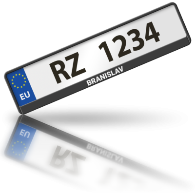 BRANISLAV - rámeček na poznávací značku auta