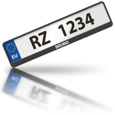 BRUNO - rámeček na poznávací značku auta