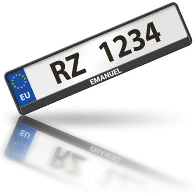 EMANUEL - rámeček na poznávací značku auta