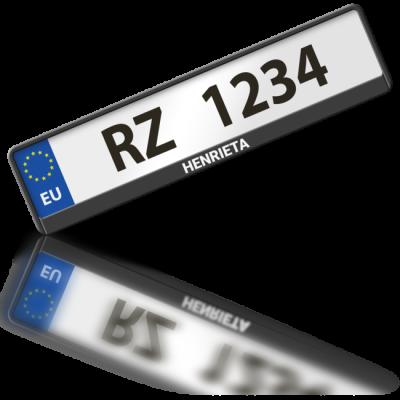 HENRIETA - rámeček na poznávací značku auta