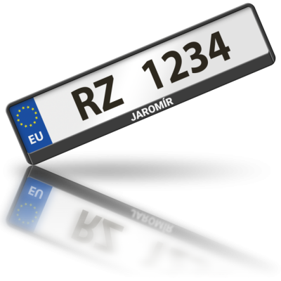 JAROMÍR - rámeček na poznávací značku auta