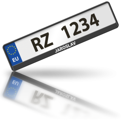 JAROSLAV - rámeček na poznávací značku auta