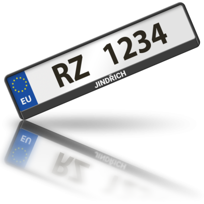JINDŘICH - rámeček na poznávací značku auta