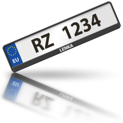 LENKA - rámeček na poznávací značku auta