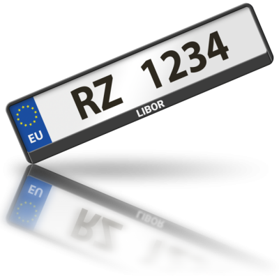 LIBOR - rámeček na poznávací značku auta
