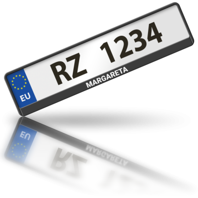MARGARETA - rámeček na poznávací značku auta