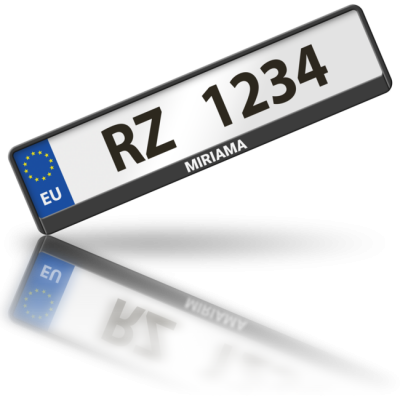 MIRIAMA - rámeček na poznávací značku auta