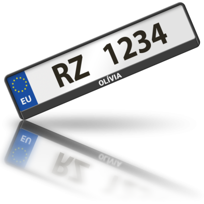 OLÍVIA - rámeček na poznávací značku auta