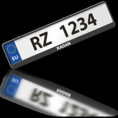 RADAN - rámeček na poznávací značku auta