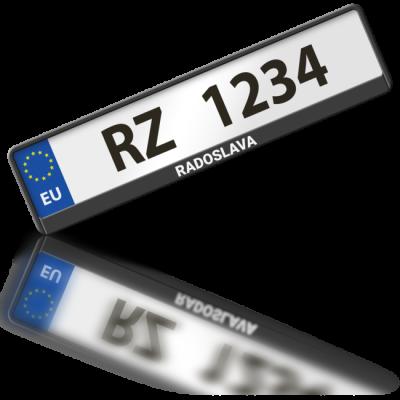 RADOSLAVA - rámeček na poznávací značku auta