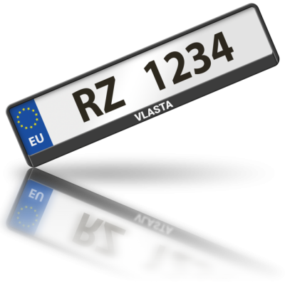 VLASTA - rámeček na poznávací značku auta